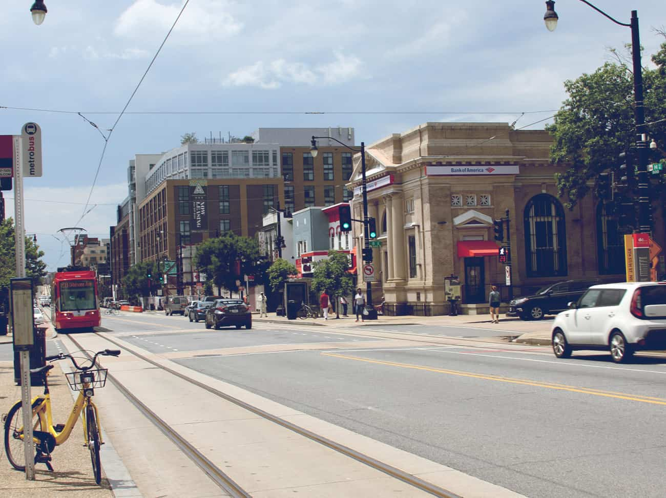 View looking down H Street