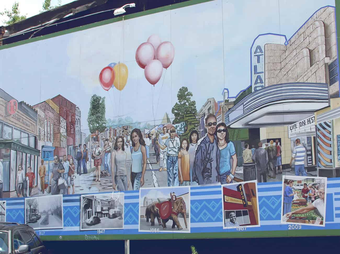 H Street mural